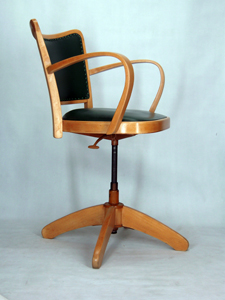 Chaise a accoudoirs fauteuil bureau tournant 1950 vintage - Chaise de bureau massante ...