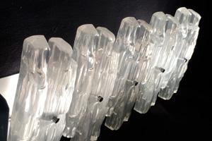 Index applique en verre de glace acrylique vintage design htlm